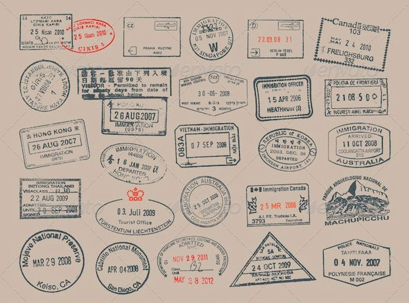 Postage and Passport Stamps