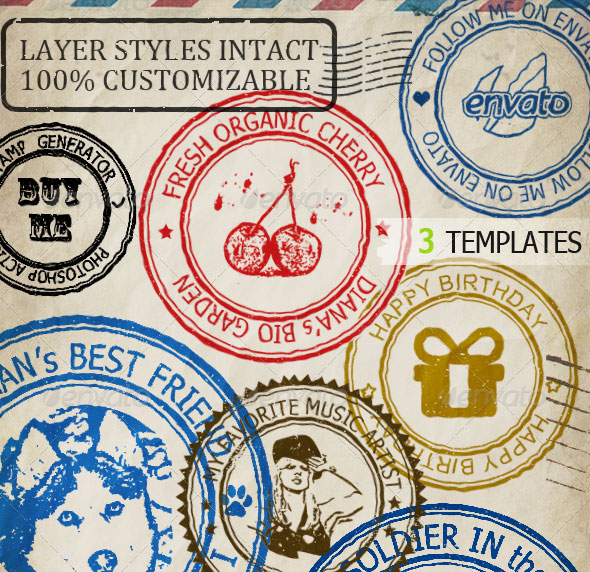 30 eyecatching rubber stamp designs web amp graphic