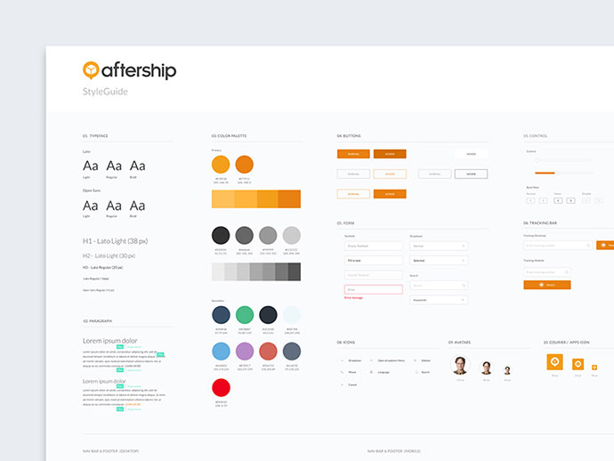 40 great examples of ui style guides web graphic for Architectural styles guide