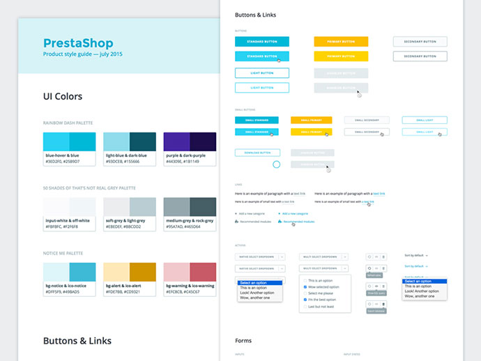 40 great examples of ui style guides web graphic design bashooka rh bashooka com UX Style Guide UX Style Guide