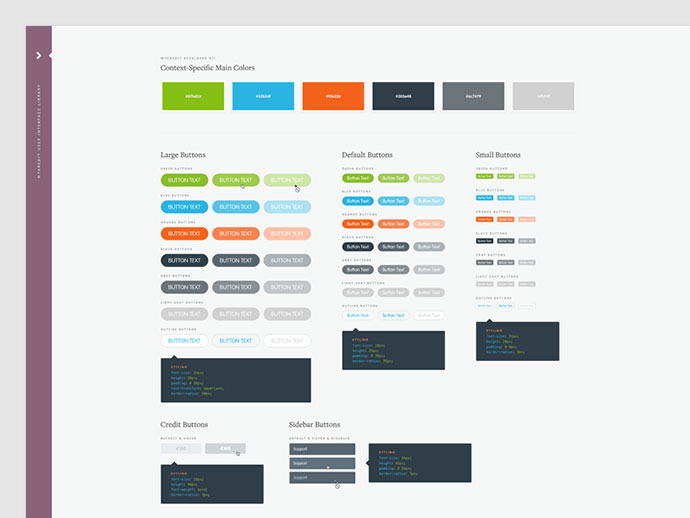 40 Great Examples Of UI Style Guides \u2013 Bashooka