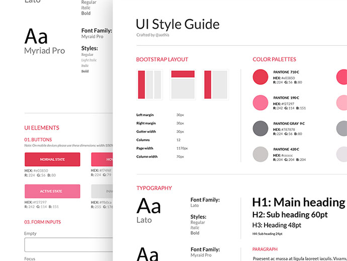 40 Great Examples Of Ui Style Guides Web Amp Graphic