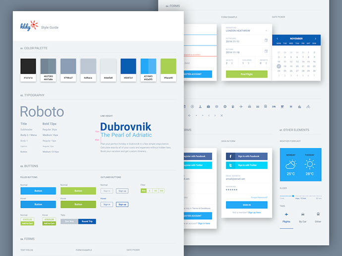 40 Great Examples Of UI Style Guides – Bashooka
