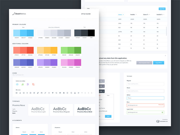 40 great examples of ui style guides web graphic design bashooka