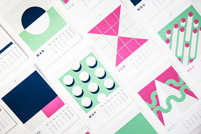 2016 Illustrated Calendar + Free Iphone Wallpapers