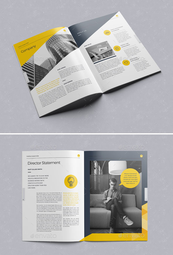 30 awesome company profile design templates web graphic design