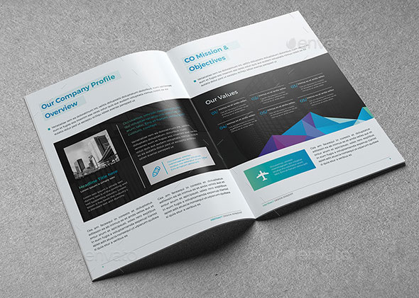 Clean Abstract Brochure 20 Page