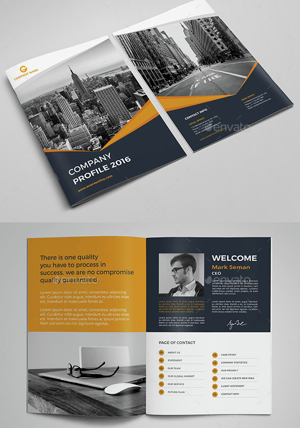 Profile company design template friedricerecipe Choice Image
