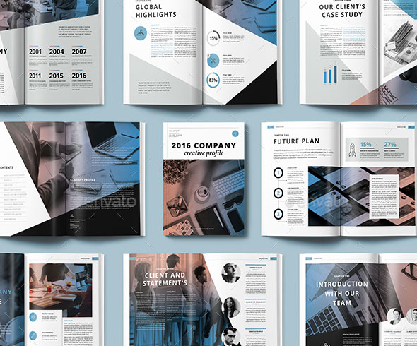 30 Awesome Company Profile Design Templates – Templates for Company Profile