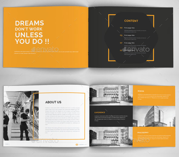 Awesome Company Profile Design Templates Web Graphic Design - Company profile brochure template