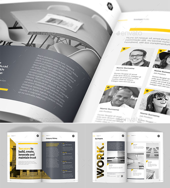30 Awesome Company Profile Design Templates Bashooka