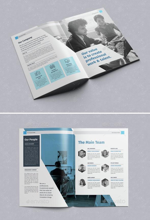 30 Awesome Company Profile Design Templates Web
