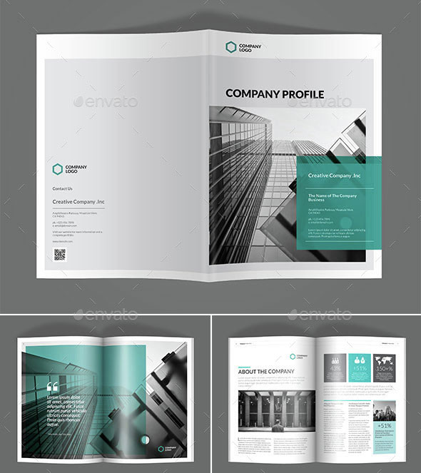 30 awesome company profile design templates web for Personal profile design templates