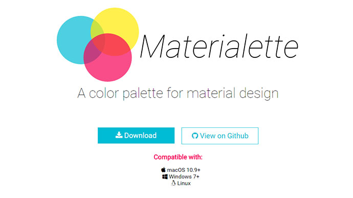 A color palette for material design