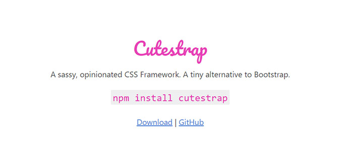 A sassy, opinionated CSS Framework. A tiny alternative to Bootstrap.