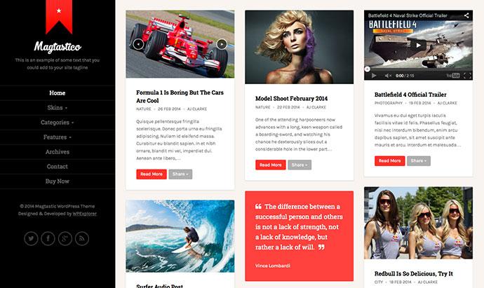 Magtastico Responsive Masonry Blog WordPress Theme