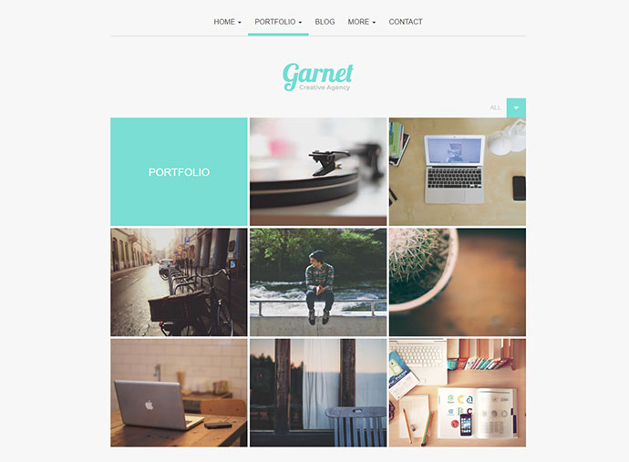 Garnet Creative Portfolio WordPress Theme