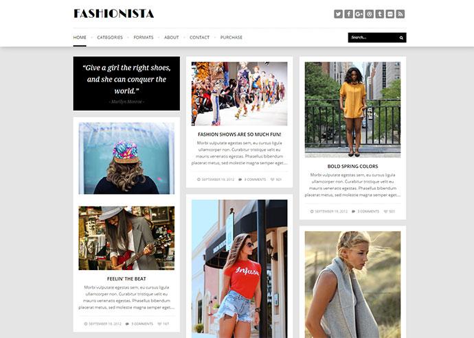 Fashionista - Responsive WordPress Blog Theme