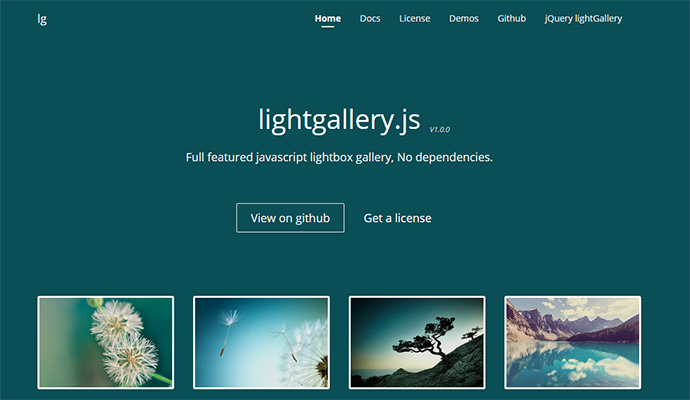 Full featured javascript lightbox gallery