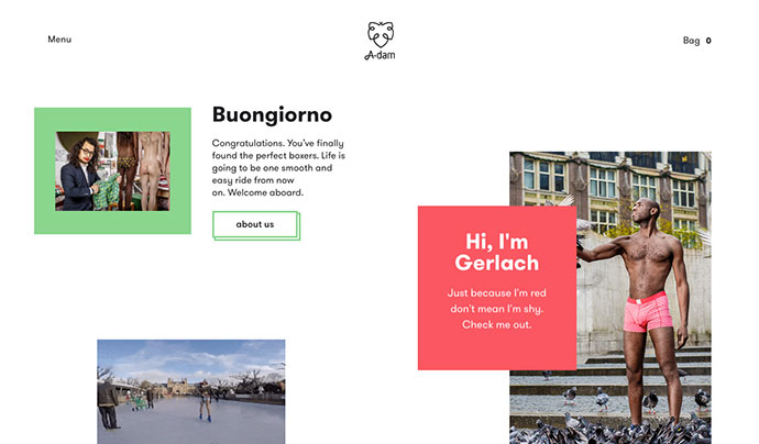 Unusual Layout And Grid Website Designs
