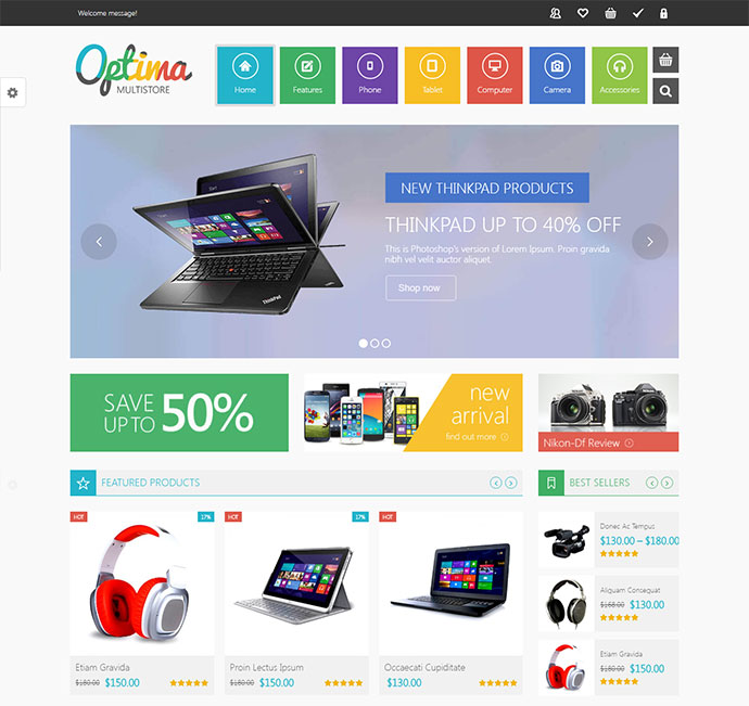 VG Optima - MultiStore WordPress WooCommerce Theme