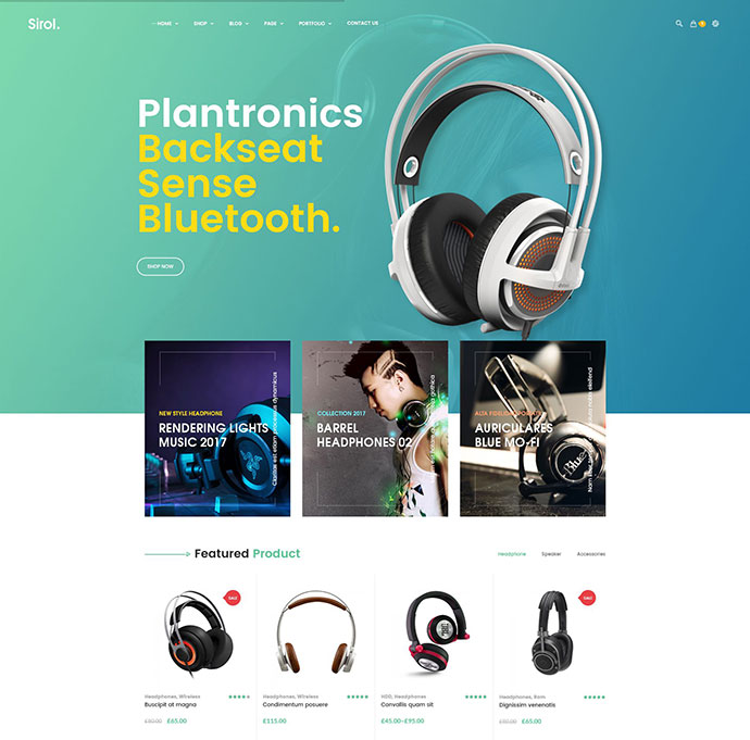 Headphone Digital Accessories WordPress Theme