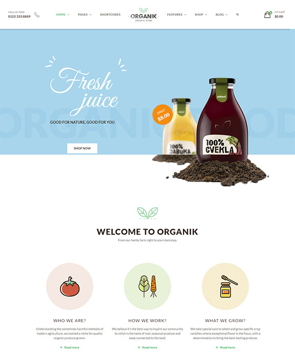 An Appealing Organic Store, Farm & Bakery WooComerce theme