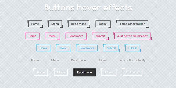 Buttons css hover effect