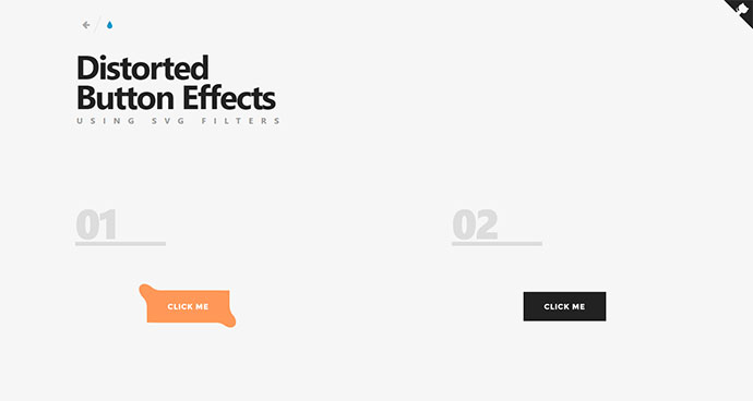 Distorted Button Effects with SVG Filters