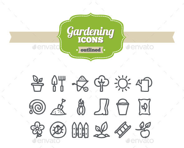 Hand Drawn Gardening Icons