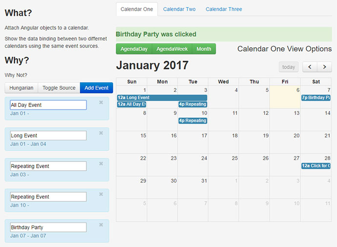 Monthly Calendar Using Javascript : Useful javascript libraries for picking date time