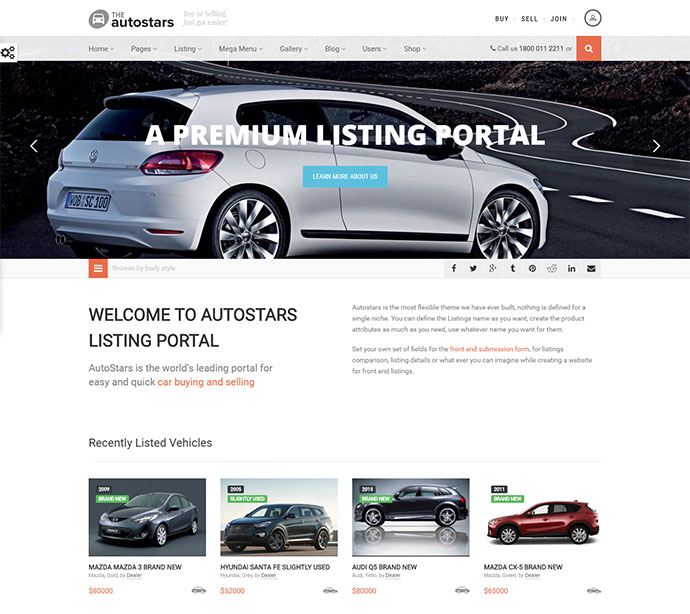 Car Dealership and Listings WP Theme