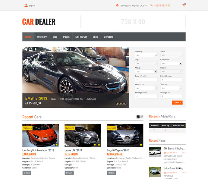 Car Dealer Automotive WordPress Theme