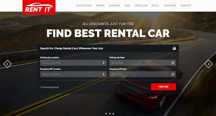 Car / Bike / Vehicle Rental WordPress Theme
