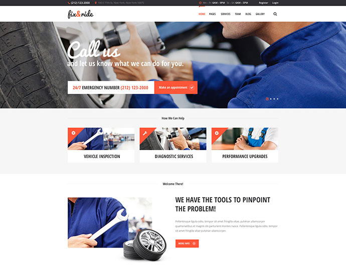 Fix and Ride | Automechanic and Car Repair Theme