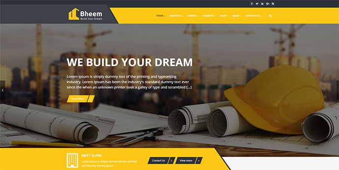 Bheem : Construction WordPress Theme