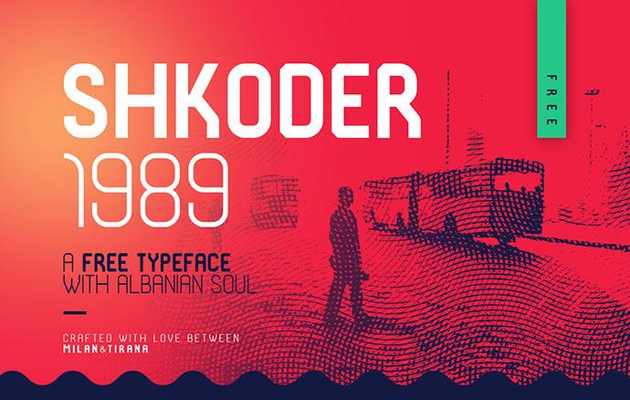 SHKODER 1989 – FREE TYPEFACE