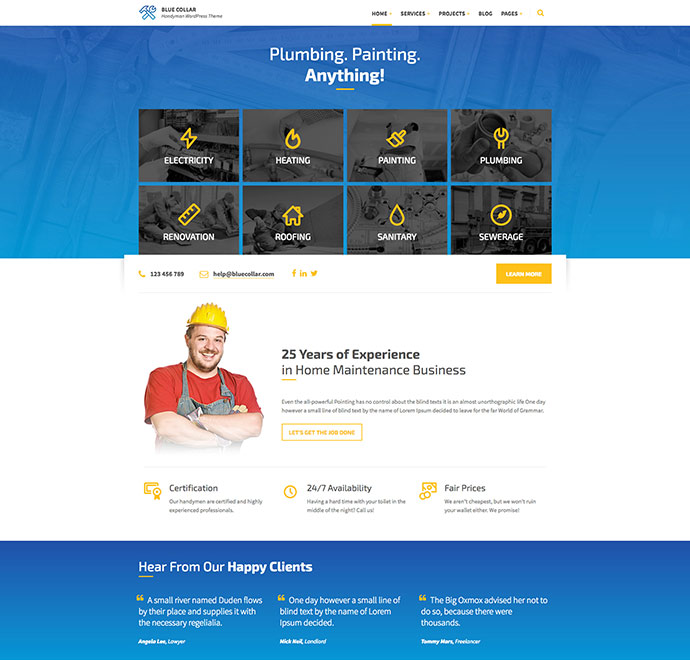 20 best home improvement wordpress themes web graphic design bashooka