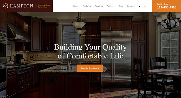 Home Design and House Renovation WordPress Theme