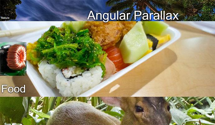 angular parallax