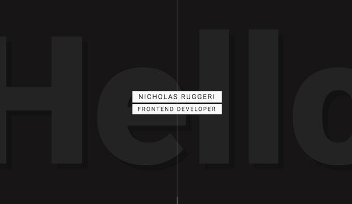 Nicholas Ruggeri - Portfolio