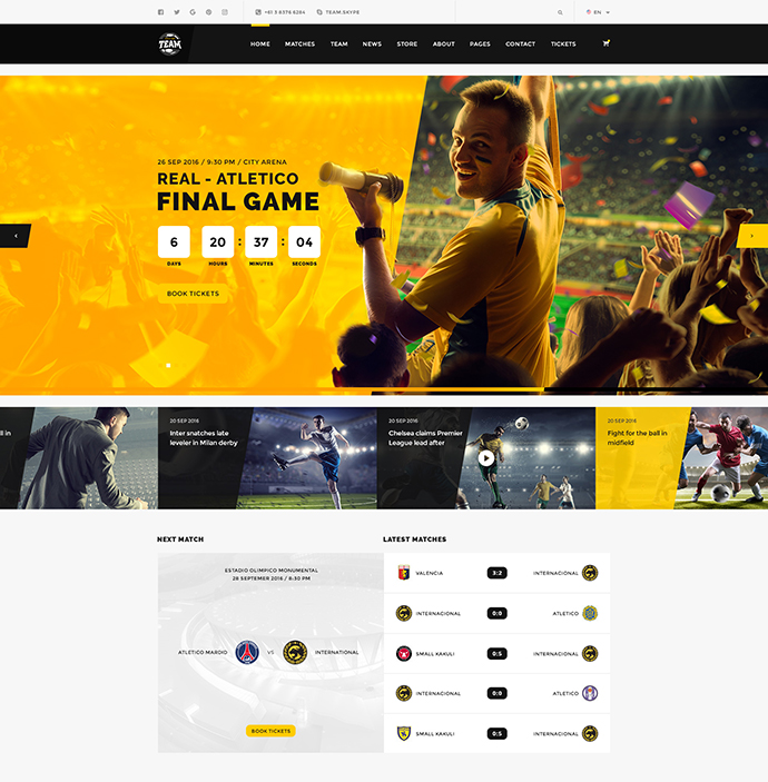 Team — Sport and eSport Club PSD Template