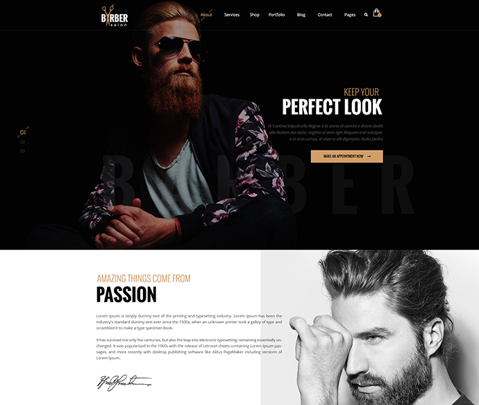 Barber - A Creative PSD Template