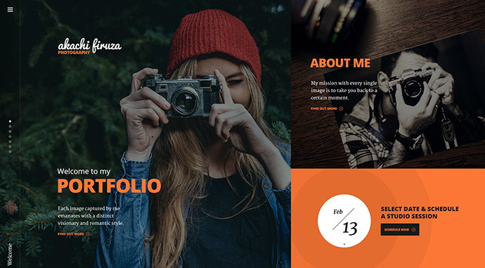 Europa - Colorful One Page PSD Template to Showcase Services