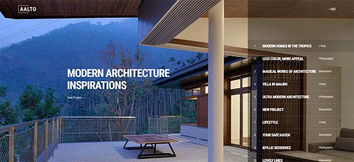 Aalto - A Refined Architecture and Interior Design Theme
