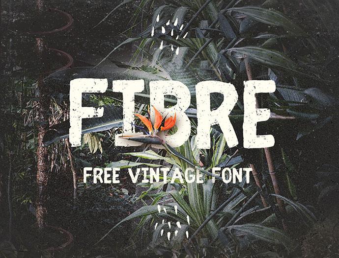 Fibre - Free Vintage Font