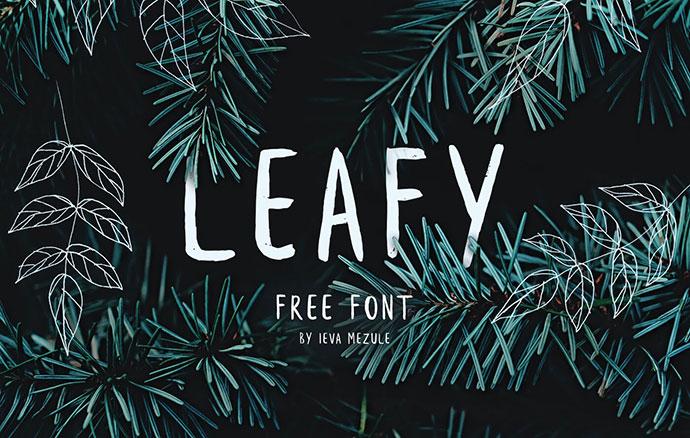 Leafy Free Brush Font