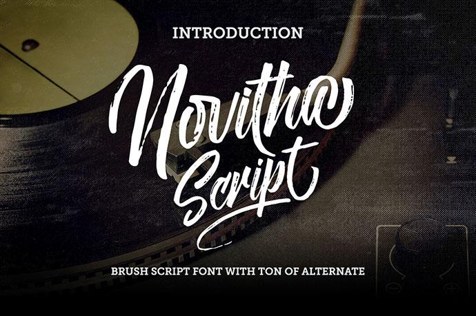 Novitha Script (Free Font)