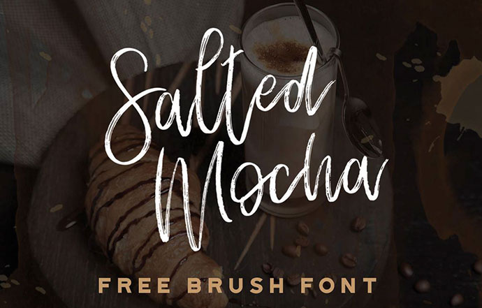 SALTED MOCHA - FREE BRUSH FONT
