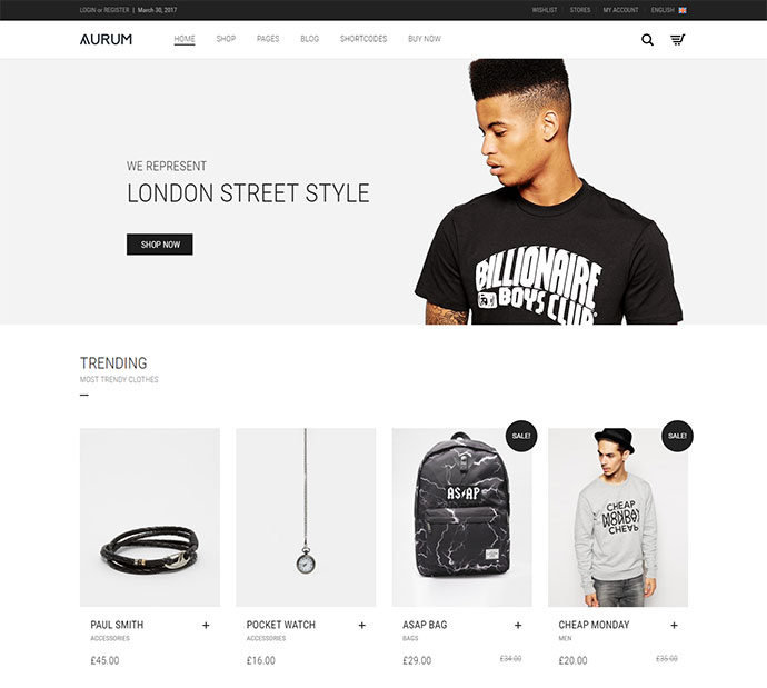 20 cool t shirt store wordpress themes 2018 web for T shirt ecommerce website